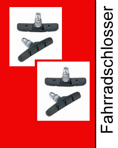 2 paar bremsschuhe v brake bremsbel ge bremsgummis top. Black Bedroom Furniture Sets. Home Design Ideas